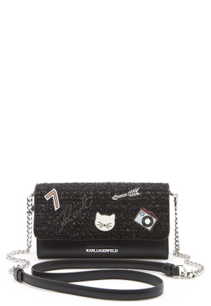 Karl Lagerfeld Classic Wallet On Chain Black One size