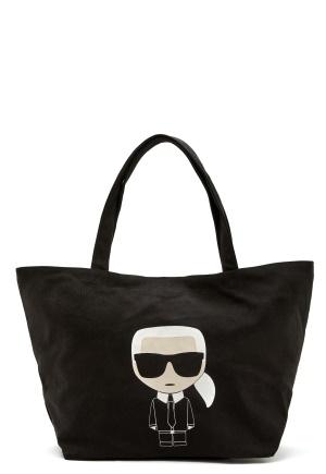 Karl Lagerfeld Ikonik Karl Canvas Tote A999 Black One size