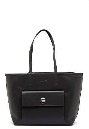 Karl Lagerfeld Ikonik Metal Pin Tote A999 Black One size