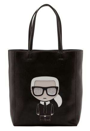 Karl Lagerfeld Ikonik Soft Tote Black/Nickel One size