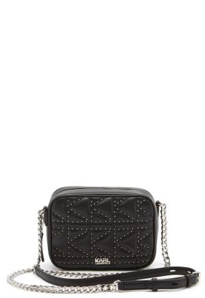 Karl Lagerfeld Quilted Stud Camera Bag Black/Nickel One size