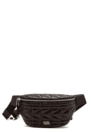 Karl Lagerfeld Quilted Studs Bumbag Black/Nickel One size