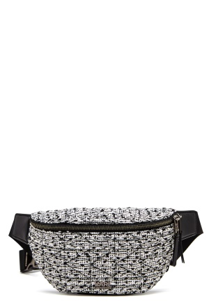 Karl Lagerfeld Quilted Tweed Bumbag Black/White One size