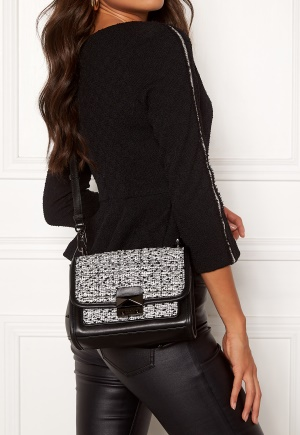 Karl Lagerfeld Quilted Tweed Small Bag Black/White One size