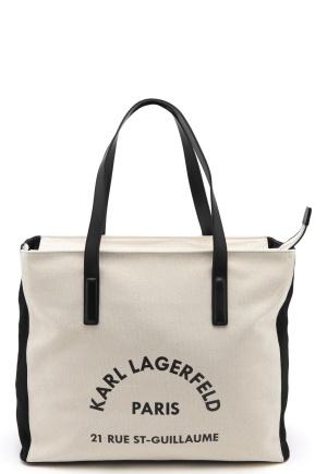Karl Lagerfeld Rue Lagerfeld Beachbag Natural One size