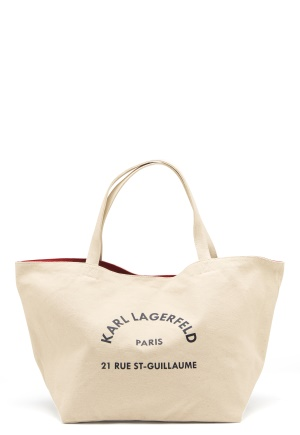 Karl Lagerfeld Rue St Guillaume Canvas 106 Natural One size
