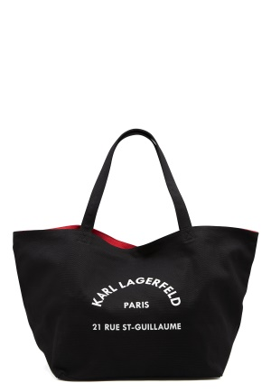 Karl Lagerfeld Rue St Guillaume Canvas 999 Black One size