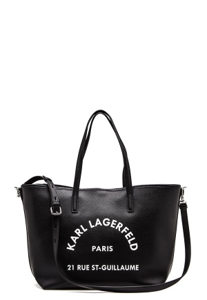 Karl Lagerfeld Rue St Guillaume Tote Black/Nickel One size
