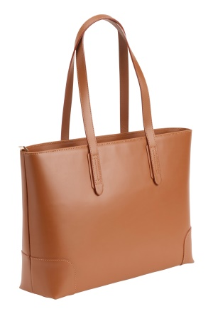 Mixed from Italy Leather Shopper Camel One size