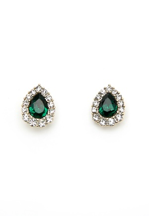 LILY AND ROSE Amelie Earrings Emerald One size