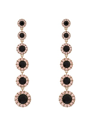 LILY AND ROSE Celeste Earrings Jet One size