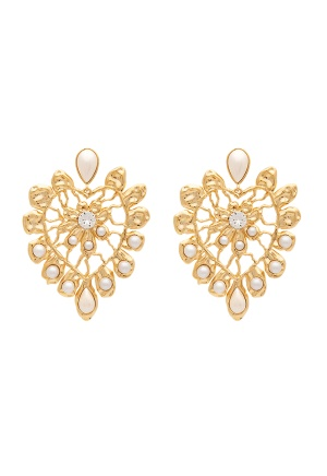 LILY AND ROSE Edith Earrings Ivory and Pearl One size