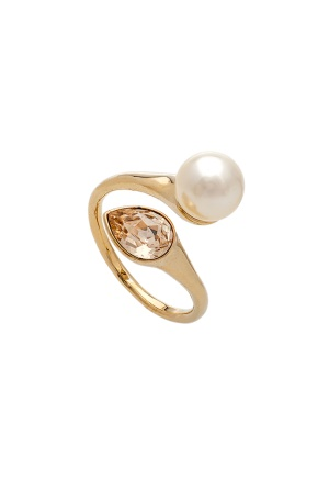 LILY AND ROSE Ella Pearl Ring Ivory One size
