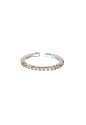 LILY AND ROSE Kennedy Ring Crystal (Silver) One size
