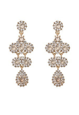 LILY AND ROSE Miss Kate Earrings Champagne One size