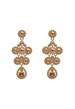 LILY AND ROSE Petite Kate Earrings Champagne One size