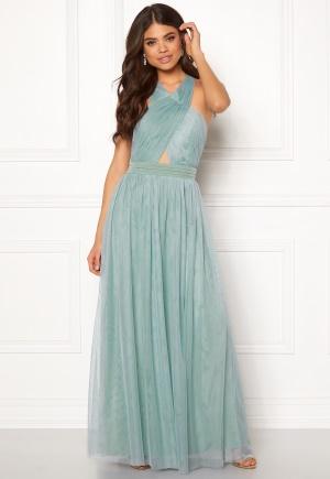 Little Mistress Crossover Maxi Dress Blue L (UK14)