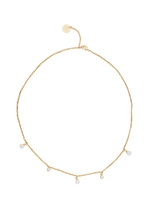 BY JOLIMA Liz Short Pearl Necklace Gold One size
