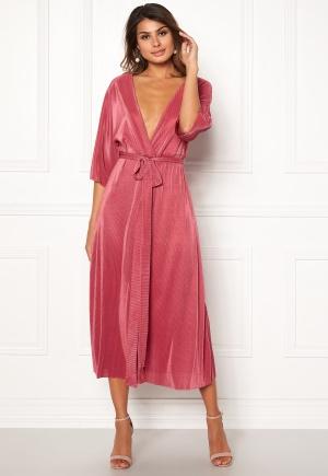 Rut & Circle Lola Plisse Kimono Rose Pink L