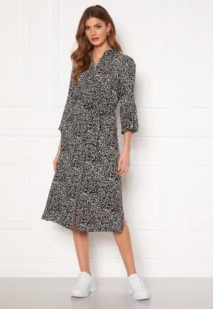 OBJECT Lorena 3/4 Shirt Dress Sandshell AOP Black 36