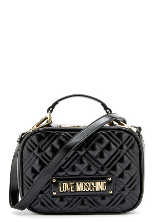 Love Moschino New Shiny Quilted Bag 000 Black One size