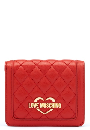 Love Moschino Quilted Wallet Red One size