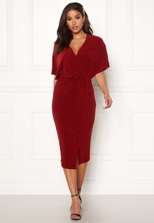 Make Way Selena sparkling dress Red / Red 34