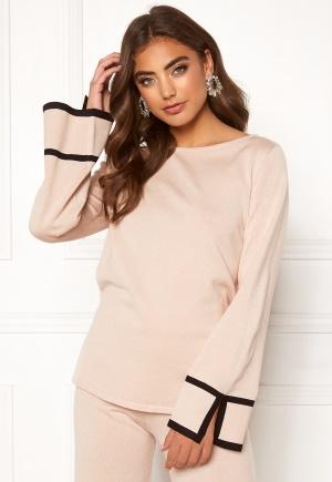 Make Way Tess knitted top Beige / Black M