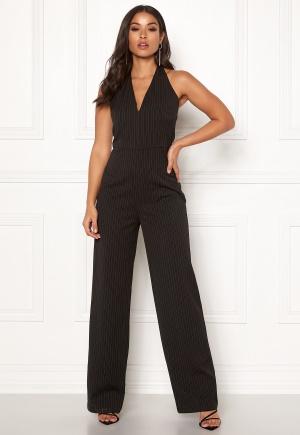 Make Way Veralii halterneck jumpsuit Black / White / Striped 36