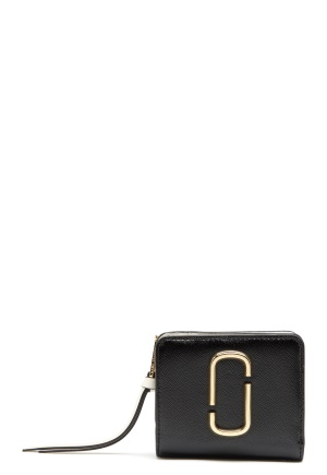Marc Jacobs Mini Compact Wallet 002 Black Multi One size