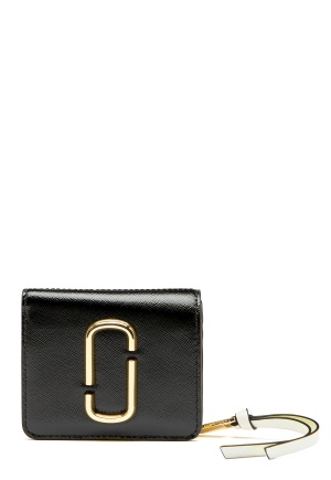 The Marc Jacobs Mini Compact Wallet Black Multi One size