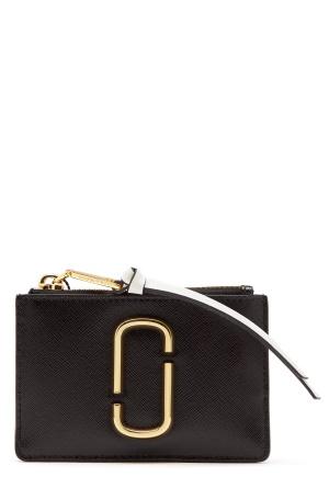 Marc Jacobs Top Zip Multi Wallet Black Baby Pink One size