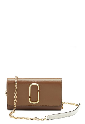 The Marc Jacobs Wallet on Chain 064 French Grey Mult One size