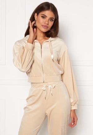 Martine Lunde X Bubbleroom Cozy velvet hoodie Beige L