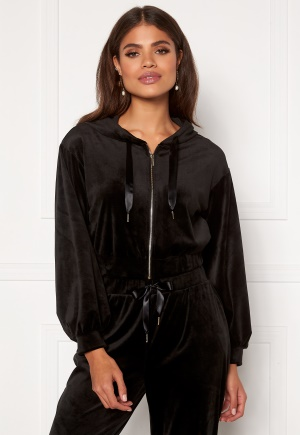 Martine Lunde X Bubbleroom Cozy velvet hoodie Black L
