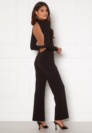 Martine Lunde X Bubbleroom Open back jumpsuit Black 40