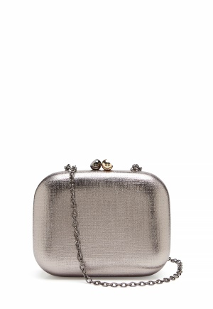 Menbur Metallic Clutch Taupe One size