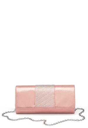 Menbur Rhinestone Glitter Clutch Even Rose One size