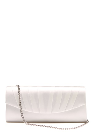 Menbur Satin Clutch Ivory One size