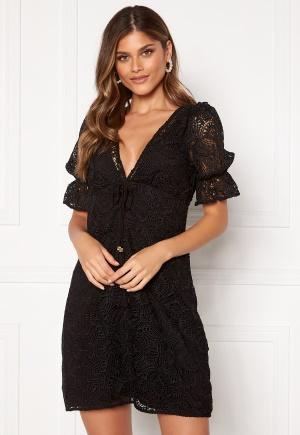 Michael Michael Kors Lux Medallion Lace Dress Black M