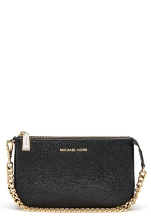Michael Michael Kors Mercer Chain Pouchette Black One size