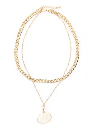 Pieces Millie Combi Necklace Gold Colour One size