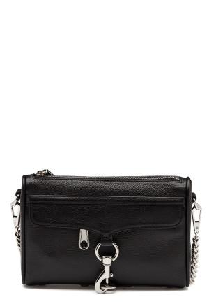 Rebecca Minkoff Mini Mac Pebble Strap Bag Black One size