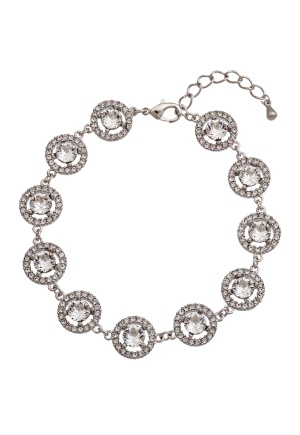 LILY AND ROSE Miranda Bracelet Crystal/silver One size