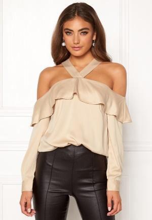 Moa Mattsson X Bubbleroom Buttoned off shoulder blouse Champagne 42