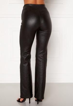 Moa Mattsson X Bubbleroom Coated flared trousers Black 34