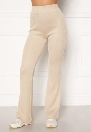 Moa Mattsson X Bubbleroom Cozy rib trousers Light beige L