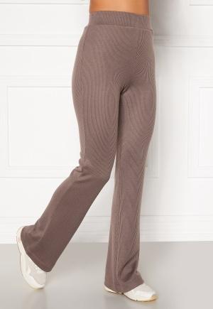 Moa Mattsson X Bubbleroom Cozy rib trousers Nougat L