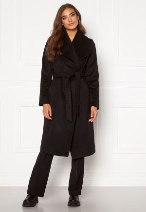 Moa Mattsson X Bubbleroom Pointy collar coat Black 34