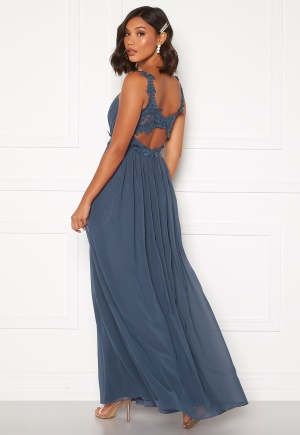 Moments New York Afrodite Chiffon Gown Blue 34